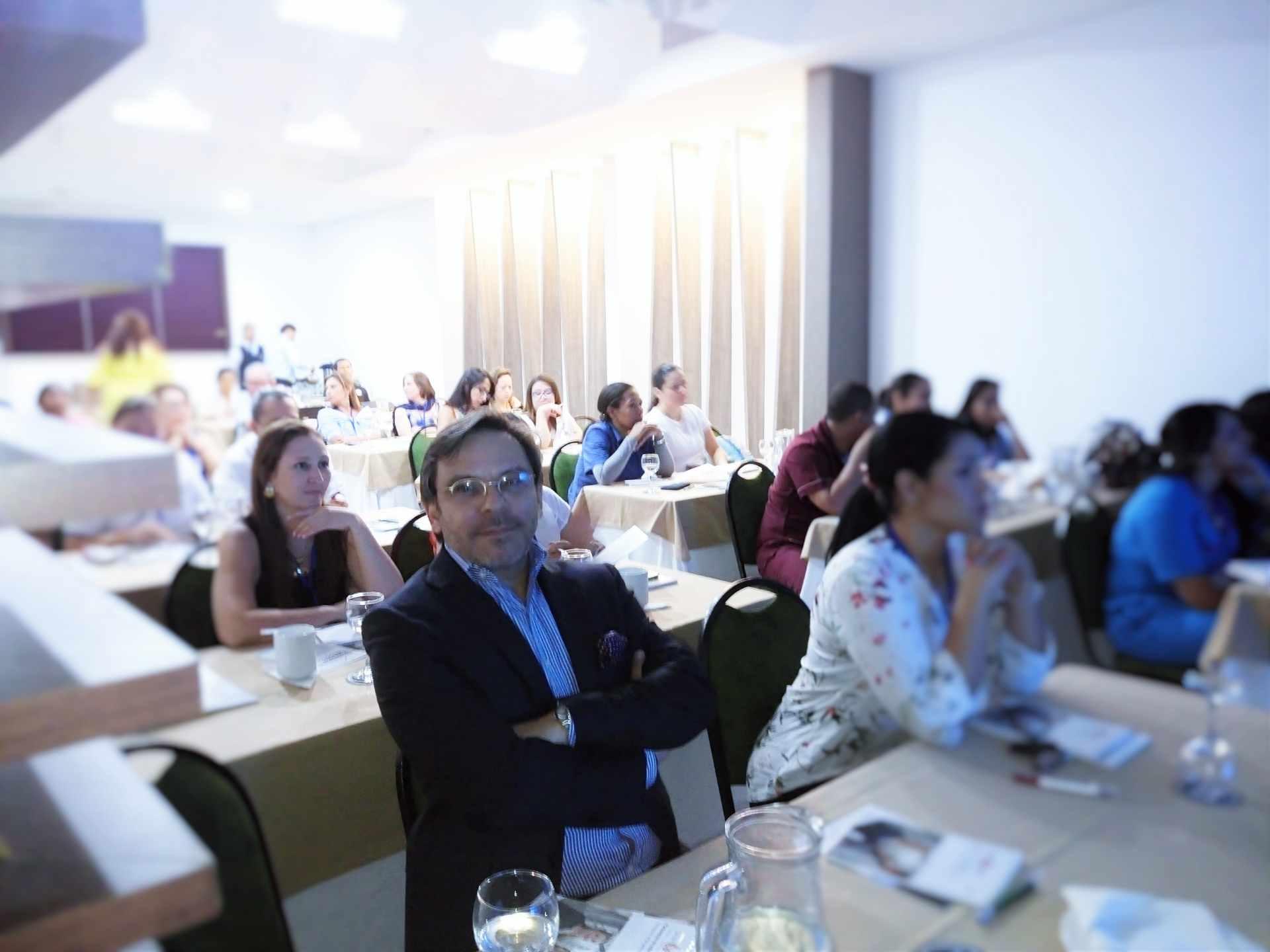 Miguel Rueda en un evento de Hemolife